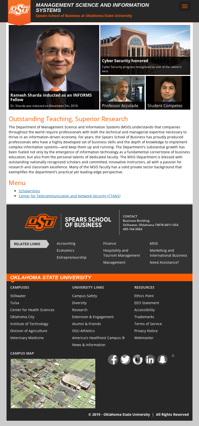 Oklahoma State University Spears School of Business PhD in ...